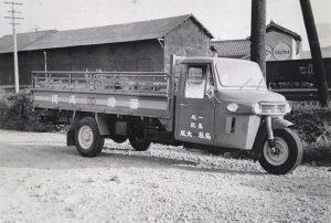 ダイハツCMオート三輪平型トラック